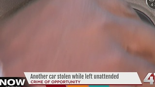 Another car stolen while left unattended in Lenexa - Video