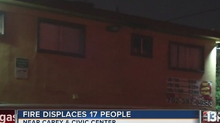 More than a dozen displaced after fire rips through apartment complex - Video