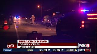 Deadly crash on Leonard Boulevard in Lehigh Acres - Video