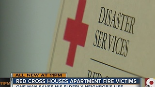 Red Cross houses apartment fire victims
