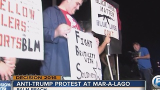 Anti-Trump protest held outside Mar-a-Lago - Video