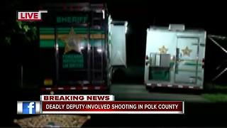 Suspect dead after deputy-involved shooting in Polk Co.