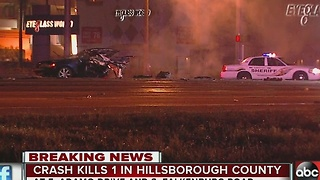 Crash kills 1 in Hillsborough County - Video