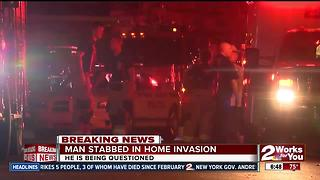 Man stabbed during a home invasion near North Peoria Ave. - Video