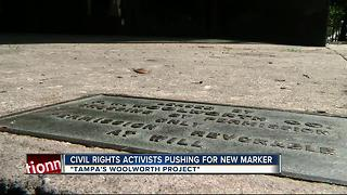 CiIvil rights activists pushing for new marker - Video