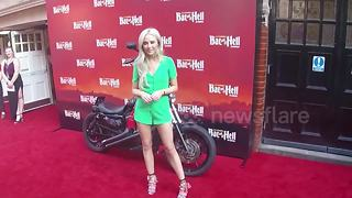 Nicola Hughes arrives at Bat Out Of Hell musical press night - Video
