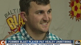 Baltimore Blast announce return of 2016 Defender of the Year, Pat Healy - Video