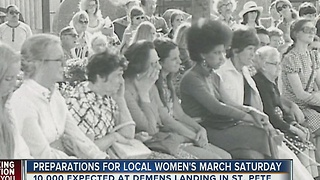 Preparations for local women's march Saturday underway - Video