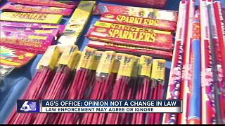 A.G. addresses confusion following opinion on fireworks - Video