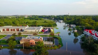 Drone Footage Shows Extent of Grayslake Flooding - Video