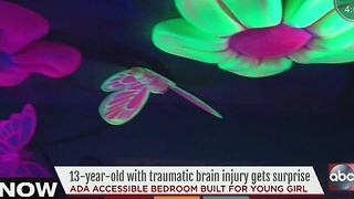 13-year-old girl gets surprise of a lifetime after accident leaves her with traumatic brain injury - Video