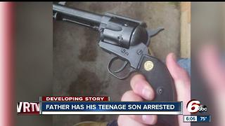 Muncie father turns son into police after he finds gun - Video