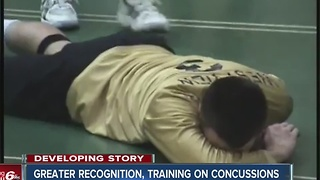 Greater recognition, training on concussions