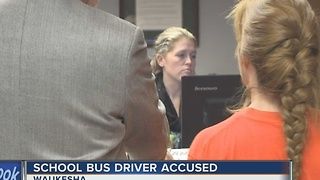 Waukesha County school bus driver accused of driving students high, with gun - Video