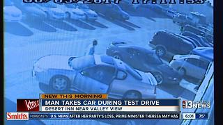 Man takes car during test drive - Video