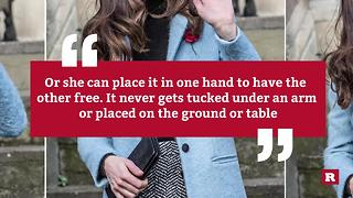 This is why Kate Middleton always holds a clutch | Rare People - Video