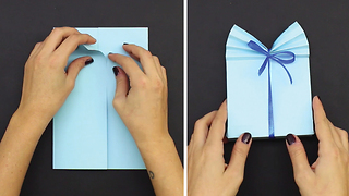 DIY How to transform sheet of paper into a fancy gift box - Video