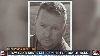 Tow truck driver killed on I-275 by drunk driver - Video