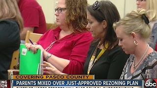 Parents mixed over just approved rezoning plan - Video