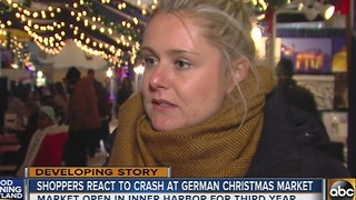Local shoppers react to crash at German Christmas market - Video