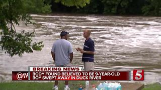 Child's Body Found In Duck River In Shelbyville - Video