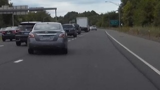 Unsafe Highway Lane Merging  - Video