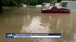 Pleasant Prairie mobile home park evacuated due to flooding - Video