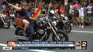 Police cancel leave amid Pride events, anti-violence effort - Video