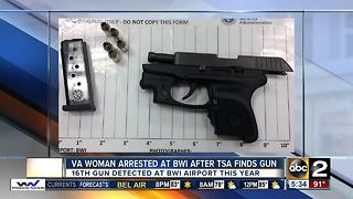 Woman arrested at BWI airport after TSA finds gun - Video