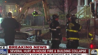 4 hurt, 6 children unaccounted for in northeast Baltimore house fire - Video