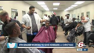 Kenny's Academy of Barbering gives free haircuts to Hoosiers - Video