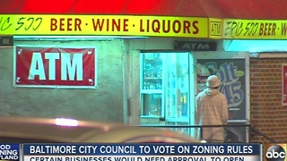 Baltimore City Council to vote on zoning rules - Video
