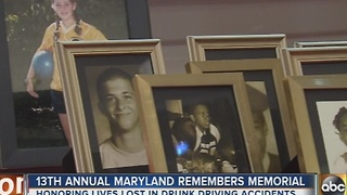 Maryland holds ceremony to remember drunk driving victims - Video