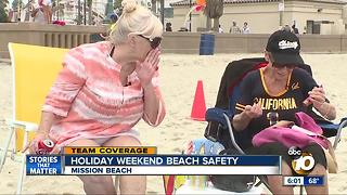 Senior citizens party it up on Mission Beach for the holiday weekend - Video