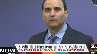 MCSO Sheriff Penzone announces leadership team Tuesday - Video