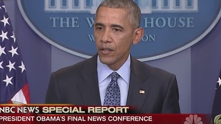 President Barack Obama holds final news conference - Video