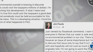 Mark Hackel says Macomb County water is safe despite Warren Mayor Jim Fouts' Facebook post - Video
