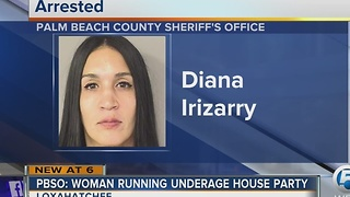 PBSO: Woman running underage house party - Video