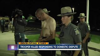 Trooper killed responding to domestic dispute - Video