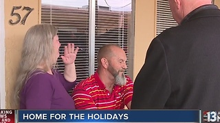 Veteran and family receive furniture from Walker's Furniture - Video