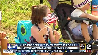 Hundreds came out to celebrate 4th of July at annual Towson parade - Video