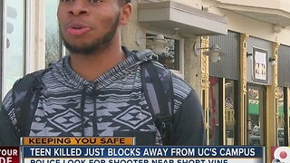 Teen shot and killed blocks from UC campus - Video