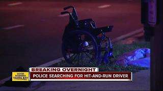 Man in wheelchair in life-threatening condition after being struck by hit-and-run driver - Video