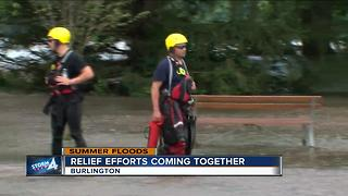 Relief efforts trickle into Burlington