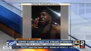 Baltimore rapper stabbed, live streamed aftermath on Facebook - Video