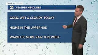 Metro Detroit Forecast: Cold, wet & cloudy today