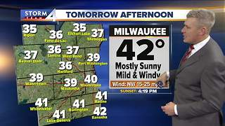 A warmer Tuesday...at least for December - Video