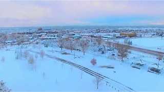 Drone Footage Shows Denver Area After Blizzard - Video
