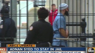 Adnan Syed to stay in jail - Video