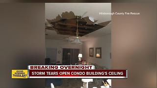 Late night ceiling collapse displaces 7 Sun City residents - Video